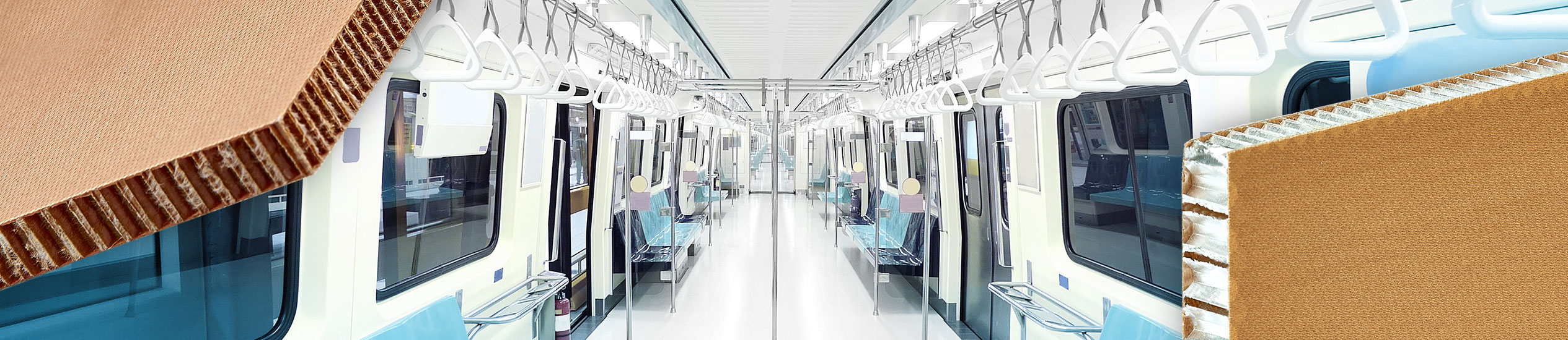 In the railway sector, lightweight panels are used as partitions, ceilings, floors, bulkheads and tables or interiors in general.